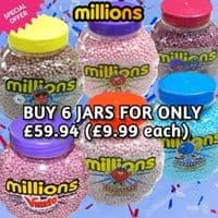 MILLIONS 6 JARS BUNDLE 6x2.27KG (£9.99each)